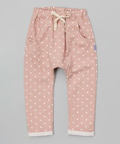 Love this Mauve Polka Dot Cuffed Pants - Toddler & Girls on #zulily! #zulilyfinds