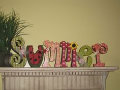 Summer letters Summer Decor Watermelon DIY Unfinished