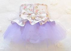 Female Dog Diaper TuTu Skirt Perfect for your dog in Season and House Training Lavender with Pink Roses