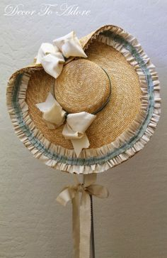 18th Century Ensemble Decor To Adore. Decorated straw hat.
