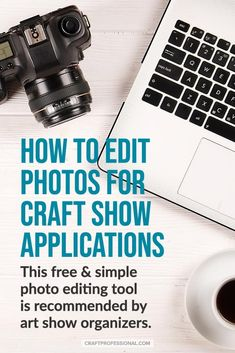 Pixlr photo editor for craft business owners - How to use this excellent, free tool to edit photos for juried art show applications. Photography For Beginners, Photography 101, Camera Photography, Product Photography, Easy Photo Editing Software, Photo Editing Tools, Selling Crafts Online, Craft Online, Craft Business