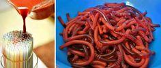 Рецепты на Хэллоуин - желейные червяки