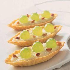 Minitartelettes au raisin et mascarpone
