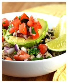 Avocado Rice Bowls with Black Beans