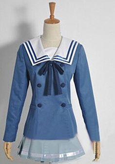 Relaxcos Beyond the Boundary Kyoukai no kanata School girl Uniform Cosplay Costume *** Check out the image by visiting the link.