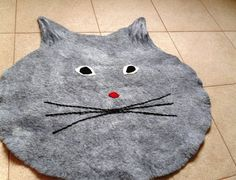Felted Cat mat  / Cat bed/ Sleeping place/ Cat pad by crazywoolLT