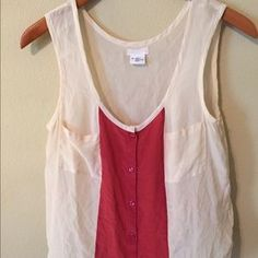 I just discovered this while shopping on Poshmark: Cream/burgundy tank. Check it out!  Size: M