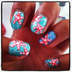 Starfish nail art | Nails | Pinterest | Starfish, Nail Art and Nails