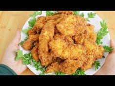 připravte si KFC kuře doma! s 1 vejcem, domácí kuřecí nabídky, super snadné a křupavé - YouTube Garlic Chicken, Fried Chicken, Tandoori Chicken, Pecan Recipes, Copycat Recipes, Cooking Recipes, Pollo Frito Kfc, Good Food, Yummy Food