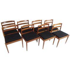 Horseman / Set of Eight Danish Dining Chairs by Magnus Olesen $3850