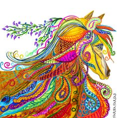 Abstract Canvas, Canvas Art Prints, Painting Canvas, Framed Canvas, Painting Gallery, Horse Spirit Animal, Native American Animals, Horse Art, Horse Horse