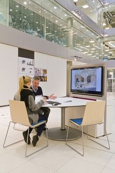 Gather is Allsteel's foray into the world of collaborative furniture designed to exist outside conference rooms and cubes... Click through to see all sorts of collaborative furniture options.