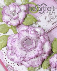 New Inspiration for flower-shaping, cards, layouts, and altered projects! - Heartfelt Creations