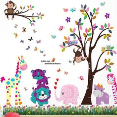 Amazing Found it at Wayfair ca Happy Animals Tree and Butterfly Grass Wall Decal