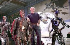 Stan Winston with Terminators.