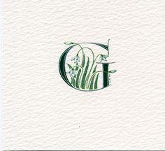 Anfangsbuchstaben G in dunkelgrün mit von claremccrory27 auf Etsy