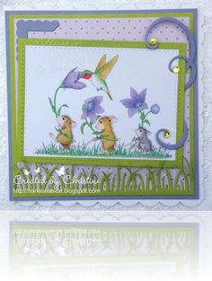 We have another New chall theme starting today @ House Mouse & Friends Monday chall Our talented teamie Beth is our hostess & has c. House Mouse Stamps, Cute Mouse, Penny Black, Card Envelopes, Digi Stamps, Mousse, Cardmaking, Card Ideas, Birthday Cards