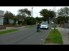 Mobility Scooter tows Smart Car to petrol station