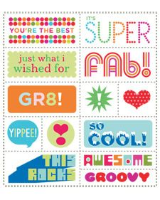 Thoughtful Stickers | Step-by-Step | DIY Craft How To's and Instructions| Martha Stewart free printable.