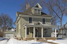 American Foursquare Houses On Pinterest Foursquare House
