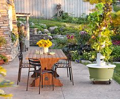 Tour this award-winning designer's landscape that's well-planned, eco-friendly, and just plain fun. http://www.bhg.com/gardening/landscaping-projects/landscape-basics/get-an-eco-friendly-and-edible-landscape/?sssdmh=dm17.756509&esrc=nwgn082814