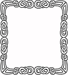 Celtic Frame Coloring Page Border Frames Printable Crafts Free Printables