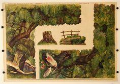 Les oblouk c. 4b. Stapferovy ceské decorace pro 25 i 35 cm. loutky. (Wald Bogen Nr. 4b. Stapfers tschech. Dekorationen für 25-35 cm Puppen.)