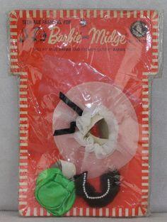 Barbie PAK 1962 MOC Fashion Pak Dress Up Hats MIP | eBay
