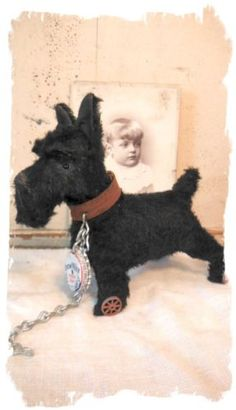 One Day Only Antique Style Scottish Terrier Dog Pull Toy Scottie Whendi Bears | eBay