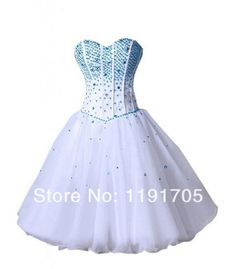Freeshipping Modern Strapless Sweetheart Handmade Blue Short Prom dresses 2014 Ball Gowns Mini Party Dress 2014 New Arrival $119.00