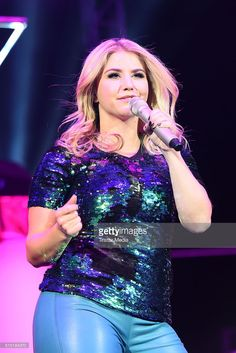 Beatrice Egli performs at the 'Die Schlagernacht des Jahres' on March 12, 2016 in Hannover, Germany.