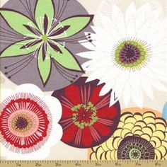 Calypso Cotton Fabric - Floral - Linen - Fashion Fabric
