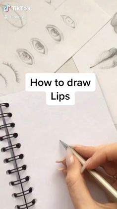 Art Drawings Beautiful, Art Drawings Sketches Simple, Pencil Art Drawings, Realistic Drawings, Drawing Lips, Eye Drawing Tutorials, Art Tutorials, Art Inspiration Drawing, Drawing Ideas