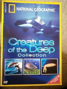 National Geographic CREATURES OF THE DEEP 4 Disc Boxed DVD Set Dvds For Sale, Dvd Set, National Geographic, On Shot, Creatures, Deep, Euro, Ireland, The Unit