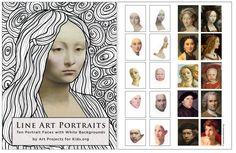Line Art Portraits | Art Projects for Kids