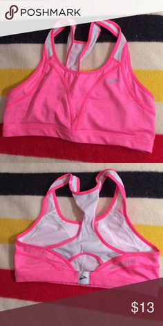 Brooks sports bra Brooks sports bra. Gently worn, still in good shape and supportive. Never dried in dryer. Brooks Intimates & Sleepwear Bras