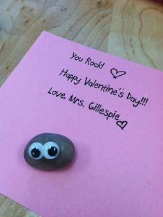 """You Rock"" student gift My Funny Valentine, Valentine Theme, Happy Valentines Day, Valentine Ideas, Preschool Valentine Crafts, Kindergarten Crafts, School Holiday Party, School Holidays, Student Gifts"