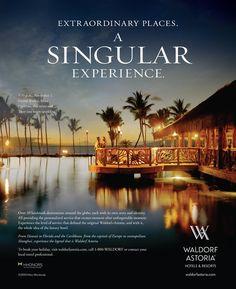 Waldorf Astoria / Print Ad Design / Branding Agency: HZDG #Design #Branding #HZDG #WaldorfAstoria #Advertising