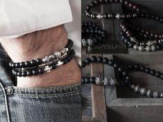 L'homme porte des bijoux, des matières et des histoires... Casteld Créateur de bijoux pour l'homme #bracelethomme #tendance #modehomme www.casteld.com