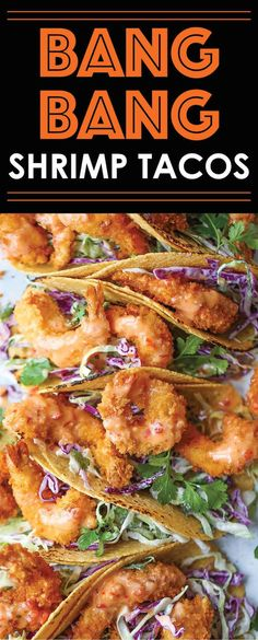 Bang Bang Shrimp Tacos - Super crisp shrimp tacos drizzled with the most amazing and epic sweet creamy chili sauce. Itll be hard to just stop at 1, or 10!