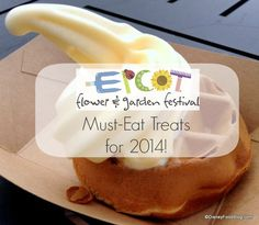 2014 Epcot Flower and Garden Festival FULL Food Booth Menus, Photos, and Reviews!! #Disney #WDW