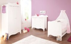 Buy Pinolino Fleur Nursery Furniture Set from us Baby Room Set, Baby Room Decor, Changing Unit, Nursery Furniture Sets, Changing Table Dresser, 2 Door Wardrobe, Cot Bedding, Baby Bedroom, Toddler Bed