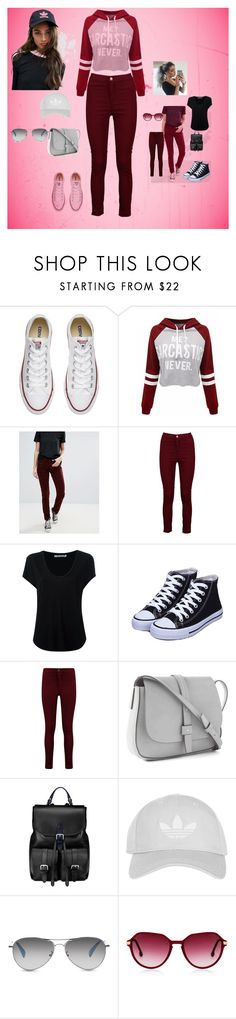"""""""just a little bit"""" by nihadniks ❤ liked on Polyvore featuring Converse, WithChic, Pepe Jeans London, Boohoo, Alexander Wang, Gap, Aspinal of London, Topshop, TOMS and Steven Alan"""