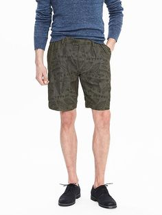Heritage Pleated-Embroidered Short
