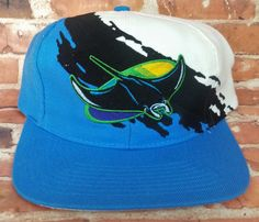 various colors c2290 9d0c6 Tampa Bay Devil Rays Vintage Snapback Logo Athletic Splash Hat RARE Starter  Cap Snapback Hats,