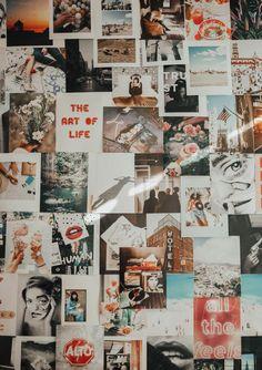 Collage Kit In 2019 My Bedroom Bedroom Decor Photo Wall Collage Collage Foto, Photo Wall Collage, Pic Collage Ideas, Picture Collage Board, Collage Collage, Picture Walls, Collage Pictures, Photowall Ideas, Bedroom Wall Collage