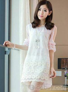 ファンタスティックファッションオフショルダーパッチワークレースドレス