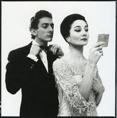 Jacqueline de Ribes and Raymundo de Larrain. Photo by Richard Avedon, 1961.