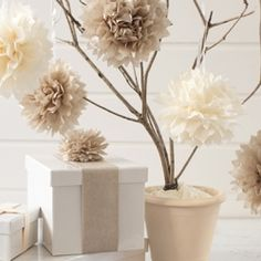 Mini tissue poms wedding decoration nursery and room decor baby tissue paper pom poms diy diy ideas diy crafts do it yourself crafty tissue paper diy pictures pom poms solutioingenieria Image collections