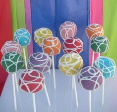 Delicious Colorful Cake Pops by TheSugarCo on Etsy, $24.00